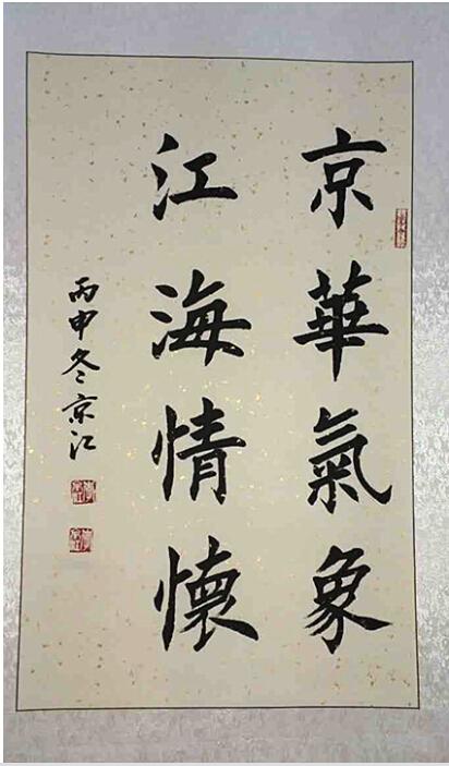 2017著名书法家李京江献礼全国两会图片